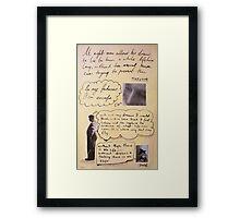 lost quote series #4 (Nietzsche) Framed Print