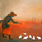 """Feeding the chooks"" by Mary Taylor"