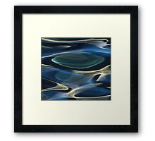 water abstract H2O # 2  Framed Print