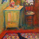 """Hallway entrance"", Dachshund on a persian rug by Mary Taylor"