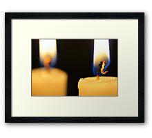 Candle Light Dinner For Two Framed Print
