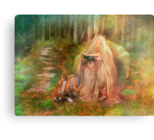 To Spin a Tale Metal Print