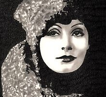 Greta Garbo by Dawn Bigford