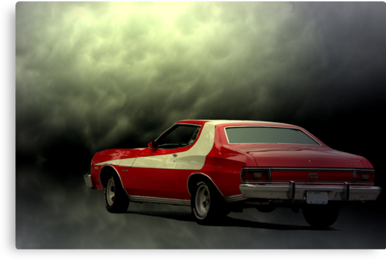 "1975 Ford Torino, Starski & Hutch Replica Car ""Storm Chaser"" by TeeMack"
