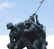 Iwo Jima War Memorial by Sheryl Unwin