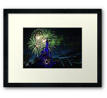 Fireworks Display over the Disneyland Castle Framed Print