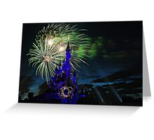 Fireworks Display over the Disneyland Castle Greeting Card