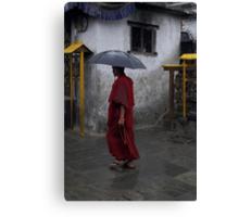 Monk at Namohbuddha, Nepal Canvas Print