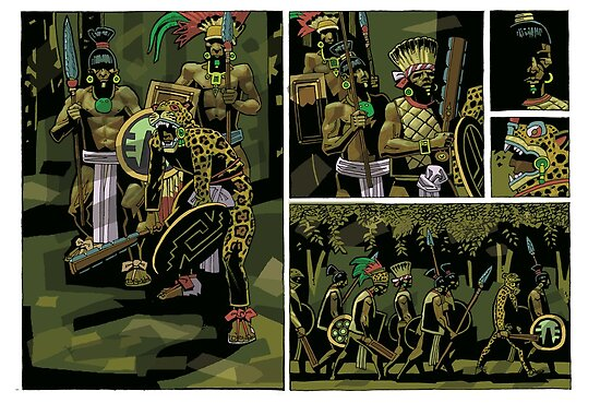 mayan warriors by David  Kennett