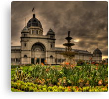 Victorian Majesty #3 , Melbourne -Royal Exhibition Building & Carlton Gardens - The HDR Experience Canvas Print