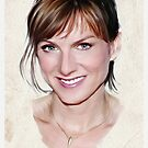 Fiona Bruce portrait by wu-wei