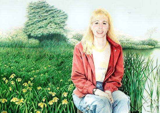"""..  Field of """" Iris's"""" by Margaret Harris"""