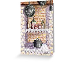 The Pickle Shelf in France Greeting Card