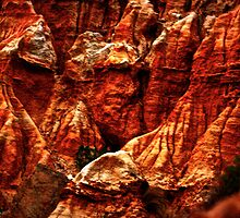 rock face red by Niisophotos