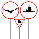 Birds traffic signs by robertosch