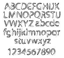 Black abstract alphabet Photographic Print