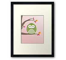 Sweet owl in a tree 3 Framed Print