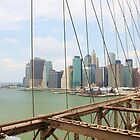 New York City from Brooklyn bridge by Vitaliy Gonikman