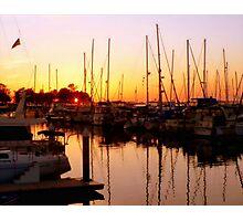 Orange Over Water Photographic Print