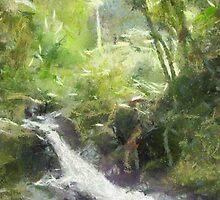 Onemea Stream, Hilo Hawaii by Joni  Rae