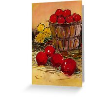 bucket of apples Greeting Card