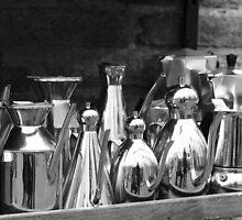Silver coffee pots by shilohrachelle