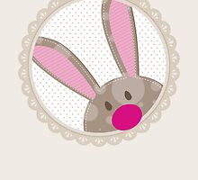 BUNNIES :: peeking circle 5 by Kat Massard