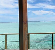Ocean panorama from over-water bungalow Maldives by libstar