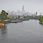 Chicago River, Rainy Morning by Peter Maeck