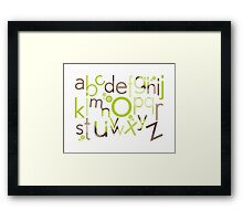 TYPOGRAPHY :: trendy alphabet 1 Framed Print