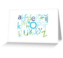 TYPOGRAPHY :: trendy alphabet 2 Greeting Card
