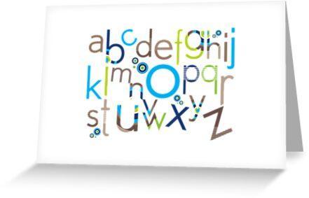 TYPOGRAPHY :: trendy alphabet 6 by Kat Massard