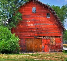 The Old Red Barn by Monte Morton
