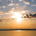 Sunrise over Yellowstone Lake by JamesA1