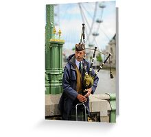 Candid Piper: Westminster Bridge and London Eye Greeting Card