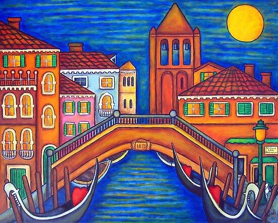 Moonlit Campo San Barnaba by LisaLorenz