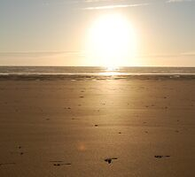 FOOTPRINTS WATERGATE BAY SUNSET by WOLFCLIPS1