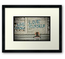 Blanche held her heart in her hands that had 9 names inscribed on it and realised she was very loved and blessed to hold these names in her hands.   Framed Print