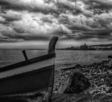 A dramatic seascape  by Andrea Rapisarda