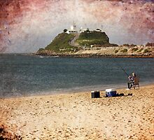 Beach Fishing by reflector