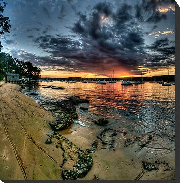 Sunset Solitude - Paradise Beach, Sydney (20 Exposure HDR) - The HDR Experience by Philip Johnson