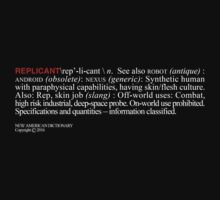 Replicant - Definition by synaptyx