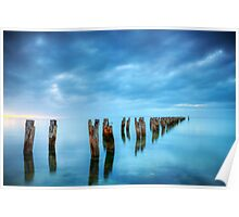 Clifton Springs Jetty Ruins Poster