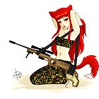Foxgirl in camo by punkypeggy