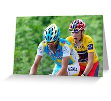 Contador V's Brajkovic Greeting Card