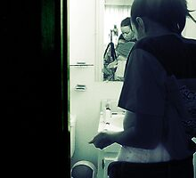Holy Shit. (Mirror in the Bathroom series) by Selkie