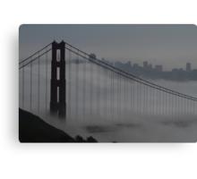 Golden Gate Bridge in the Fog Canvas Print