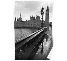 Westminster bridge reflection Poster