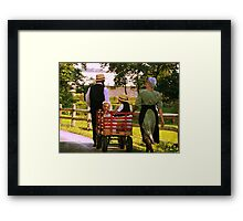 The Red Wagon Framed Print