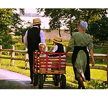The Red Wagon Photographic Print